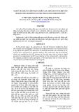 RESEARCH THE ADSORPTION E.COLI BACTERIA OF DENATURED BENTONITE - NGHIÊN CỨU KHẢ NĂNG HẤP PHỤ VI KHUẨN E.COLI  BẰNG BENTONITE BIẾN TÍNH - LÊ HỮU NGHĨA