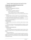 Chương 2: Thiết kế mạng lưới thoát nước ngoài nhà