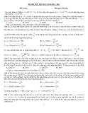 Đề Thi Thử Đại Học Vật Lý 2013 - Phần 2 - Đề 1 (có đáp án)