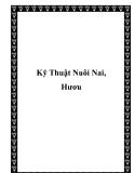 Kỹ Thuật Nuôi Nai, Hươu