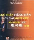Ngữ pháp ngôn ngữ tiếng Hàn dành cho người Việt