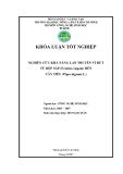 NGHIÊN CỨU KHẢ NĂNG LAN TRUYỀN VI RÚT TỪ RỆP SÁP (Ferrisia virgata) ĐẾN CÂY TIÊU (Piper nigrum L.)