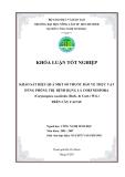 KHẢO SÁT HIỆU QUẢ MỘT SỐ THUỐC BẢO VỆ THỰC VẬT DÙNG PHÕNG TRỊ BỆNH RỤNG LÁ CORYNESPORA (Corynespora cassiicola (Berk. & Curt.) Wei.) TRÊN CÂY CAO SU