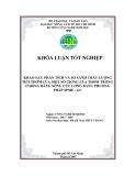 KHẢO SÁT, PHÂN TÍCH VÀ SO SÁNH CHẤT LƯỢNG MÙI THƠM CỦA MỘT SỐ GIỐNG LÚA THƠM TRỒNG Ở ĐỒNG BẰNG SÔNG CỬU LONG BẰNG PHƯƠNG PHÁP SPME - GC
