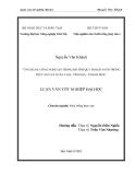 ỨNG DỤNG CÔNG NGHỆ GIS TRONG HỖ TRỢ QUY HOẠCH NUÔI TRỒNG THỦY SẢN XÃ XUÂN LÂM - TĨNH GIA - THANH HOÁ