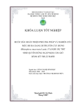 BƯỚC ĐẦU HOÀN THIỆN PHƯƠNG PHÁP VÀ NGHIÊN CỨU MỨC ĐỘ ĐA DẠNG DI TRUYỀN CÂY ĐƯNG (Rhizophora mucronata Lamk.) TẠI KHU DỰ TRỮ SINH QUYỂN RỪNG NGẬP MẶN CẦN GIỜ BẰNG KỸ THUẬT RAPD