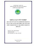 KHÓA LUẬN TỐT NGHIỆP KHAI THÁC DỮ LIỆU ESTs (EXPRESSED SEQUENCE TAGs) Ở CHI CAM CHANH (CITRUS) CHO VIỆC PHÁT TRIỂN MARKER PHÂN TỬ SSR (SIMPLE SEQUENCE REPEATS) Ngành học: CÔNG NGHỆ SINH HỌC Niên khóa: 2003-2007 Sinh viên thực hiện: LƢU TRẦN CÔNG HUY Thành phố Hồ Chí Minh Tháng 9/2007
