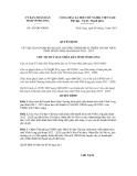 Quyết định số 424/QĐ-UBND