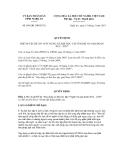 Quyết định số 856/QĐ.UBND.VX
