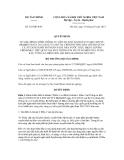 Quyết định số 525/QĐ-BTC
