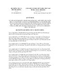 Quyết định số  289/QĐ-BTTTT