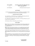 Quyết định số 587/QĐ-BTC