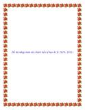 Đề thi nhập môn tài chính tiền tệ học kì 2( 2010- 2011)