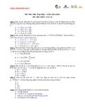 ĐỀ THI THỬ ĐẠI HỌC NĂM 2012-2013 ĐỀ THI MÔN: VẬT LÍ ĐỀ 6