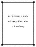 TACROLIMUS: Thuốc mới trong điều trị bệnh chàm thể tạng