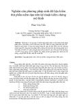 """Báo cáo """" Nghiên cứu phương pháp sinh dữ liệu kiểm thử phần mềm dựa trên kỹ thuật kiểm chứng mô hình """""""