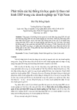 """Báo cáo """"Phát triển các hệ thống tin học quản lý theo mô hình ERP trong các doanh nghiệp tại Việt Nam """""""