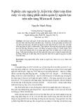"""Báo cáo """" Nghiên cứu nguyên lý, kiến trúc điện toán đám mây và xây dựng phần mềm quản lý nguồn lực trên nền tảng Microsoft Azure """""""