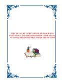 MỘT SỐ VẤN ĐỀ CƠ BẢN TRONG KẾ HOẠCH HÓA Ở CẤP VÙNG LÃNH THỔ HÀNH CHÍNH - KINH TẾ LOẠI VỪA TỈNH, THÀNH PHỐ TRỰC THUỘC TRUNG ƯƠNG.