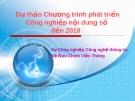 Dự thảo Chương trình phát triển Công nghiệp