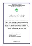 ĐÁNH GIÁ TÌNH TRẠNG NHIỄM CUCUMBER MOSAIC VIRUS, TOBACCO MOSAIC VIRUS, TOMATO SPOTTED WILT VIRUS TRÊN CÂY THUỐC LÁ (Nicotiana tabacum L.) VÀ CÂY ĐẬU PHỘNG (Arachis hypogaea L.) TẠI TỈNH TÂY NINH BẰNG KỸ THUẬT ELISA VÀ CHẨN ĐOÁN TOBACCO MOSAIC VIRUS BẰNG KỸ THUẬT RT - PCR