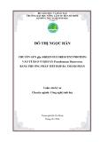 CHUYỂN GEN gfp (GREEN FLUORESCENT PROTEIN) VÀO TẾ BÀO VI KHUẨN Pseudomonas fluorescens BẰNG PHƯƠNG PHÁP TIẾP HỢP BA THÀNH PHẦN