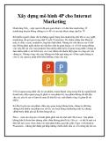 Xây dựng mô hình 4P cho Internet Marketing