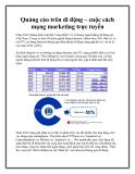 Quảng cáo trên di động – cuộc cách mạng marketing trực tuyến