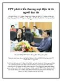 FPT phát triển thương mại điện tử từ người đọc tin