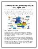 Xu hướng Internet Marketing - tiếp thị trực tuyến 2013