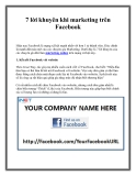 7 lời khuyên khi marketing trên Facebook
