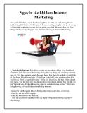 Nguyên tắc khi làm Internet Marketing