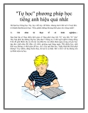 """""""Tự học"""" phương pháp học tiếng anh hiệu quả nhất"""