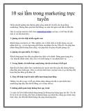 10 sai lầm trong marketing trực tuyến