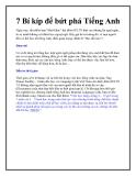 7 Bí kíp để bứt phá Tiếng Anh