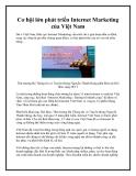 Cơ hội lớn phát triển Internet Marketing của Việt Nam