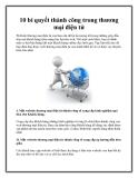 10 bí quyết thành công trong thương mại điện tử