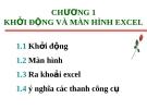 Bài giảng Excel căn bản - Chương 1 Khởi động màn hình Excel