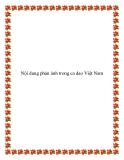 Nội dung phản ánh trong ca dao Việt Nam