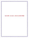 Tài liệu: TỤC NGỮ - CA DAO - DÂN CA NGHỆ TĨNH