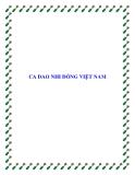 CA DAO NHI ĐỒNG VIỆT NAM
