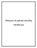 Những quy tắc giúp đọc sách tiếng Anh hiệu quả
