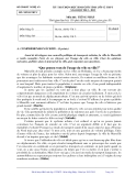 Đề thi học sinh giỏi tỉnh Nghệ An năm 2013 môn tiếng Pháp 12