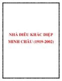 NHÀ ĐIÊU KHẮC DIỆP MINH CHÂU (1919-2002)