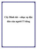 Cây Đinh tút – nhạc cụ độc đáo của người T'riêng