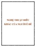 NGHỆ THUẬT ĐIÊU KHẮC CỦA NGƯỜI Ê ĐÊ