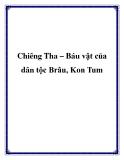 Chiêng Tha – Báu vật của dân tộc Brâu, Kon Tum