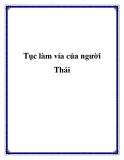 Tục làm vía của người Thái