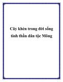 Cây khèn trong đời sống tinh thần dân tộc Mông