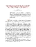 Về Việc Nghiên Cứu Sóng Thần, Các Đặc điểm Hoạt Động Động Đất Có Khả Năng Gây Sóng Thần Và Một Số Giải Pháp Xây Dựng Hệ Thống Cảnh Báo Sóng Thần Ở Việt Nam